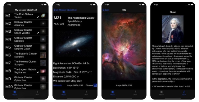 My Messier iPhone X Store Screen Shot